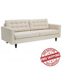 Modway EEI-1011-BEI Empress Upholstered Sofa Beige