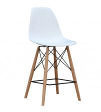 Fine Mod Imports FMI10110-25s-WHITE Woodleg Counter Chair Square Base, White