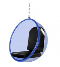 "Fine Mod Imports FMI10152-black 42"" Bubble Hanging Chair Blue Acrylic in Black"