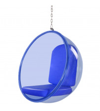"Fine Mod Imports FMI10152-blue 42"" Bubble Hanging Chair Blue Acrylic in Blue"