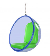 "Fine Mod Imports FMI10152-green 42"" Bubble Hanging Chair Blue Acrylic in Green"