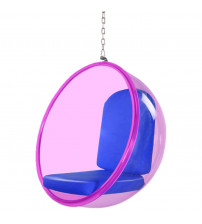 Fine Mod Imports FMI10153-BLUE Bubble Hanging Chair Pink Acrylic, Blue