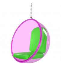 Fine Mod Imports FMI10153-GREEN Bubble Hanging Chair Pink Acrylic, Green