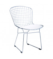 Fine Mod Imports Wire Side Chair FMI1143, Black