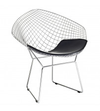 Fine Mod Imports Wire Diamond Chair FMI1157, Black