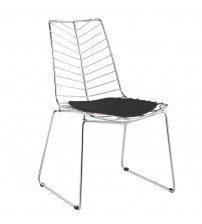 Fine Mod Imports Wire Leaf Chair FMI2014, Black