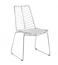 Fine Mod Imports Wire Leaf Chair FMI2014, White