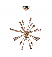 "Fine Mod Imports FMI8010-23-gold Spark Hanging Chandelier 23"" in Gold"