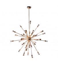 "Fine Mod Imports FMI8010-39-gold Spark Hanging Chandelier 39"" in Gold"