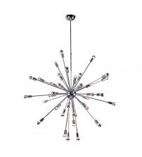 Fine Mod Imports FMI8010-39-SILVER Spark Hanging Chandelier 39