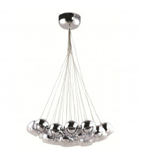 Fine Mod Imports FMI8011-SILVER Cup Hanging Chandelier, Silver