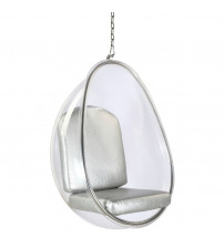 Fine Mod Imports Balloon Hanging Chair FMI9237, Silver
