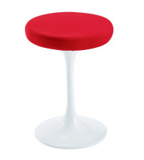 "Fine Mod Imports Flower Stool Chair 25"" FMI9252, Red"