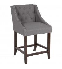 Flash Furniture CH-182020-T-24-DKGY-F-GG Carmel Series 24