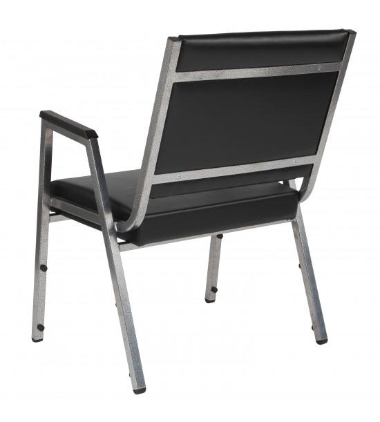 Flash Furniture XU-DG-60443-670-1-BK-VY-GG HERCULES Series 1500 lb. Rated Black Antimicrobial Vinyl Bariatric Medical Reception Arm Chair