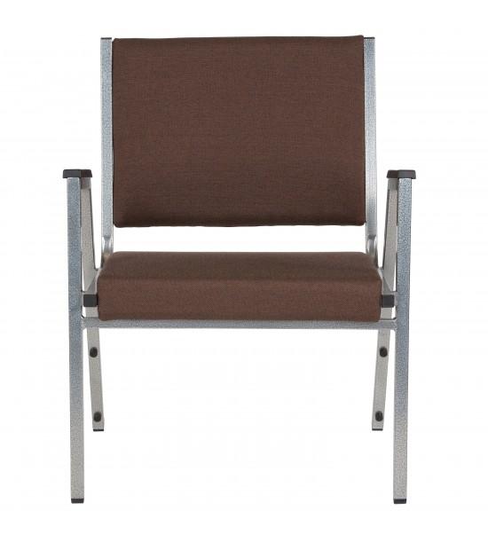 Flash Furniture XU-DG-60443-670-1-BRN-GG HERCULES Series 1500 lb. Rated Brown Antimicrobial Fabric Bariatric Medical Reception Arm Chair