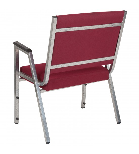Flash Furniture XU-DG-60443-670-1-BY-GG HERCULES Series 1500 lb. Rated Burgundy Antimicrobial Fabric Bariatric Medical Reception Arm Chair
