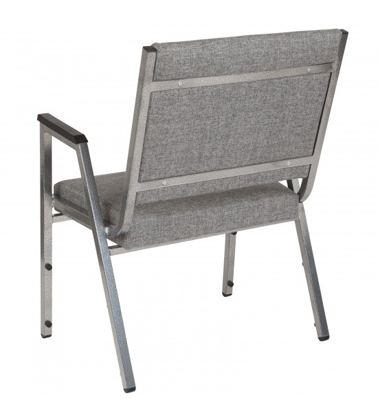 Flash Furniture XU-DG-60443-670-1-GY-GG HERCULES Series 1500 lb. Rated Gray Antimicrobial Fabric Bariatric Medical Reception Arm Chair