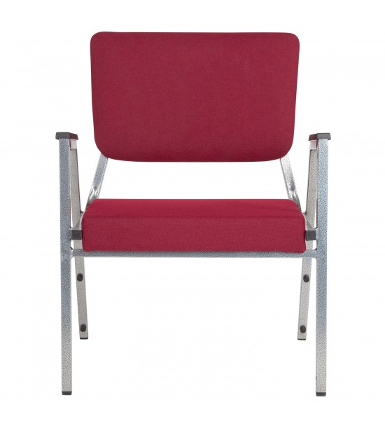 Flash Furniture XU-DG-60443-670-2-BY-GG HERCULES Series 1500 lb. Rated Burgundy Antimicrobial Fabric Bariatric Medical Reception Arm Chair with 3/4 Panel Back