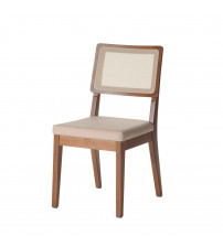Manhattan Comfort 1011752 Pell Dining Chair in Dark Beige and Maple Cream