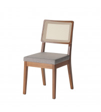 Manhattan Comfort 1011753 Pell Dining Chair in Grey and Maple Cream