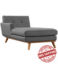 Modway EEI-1793-DOR Engage Left-Arm Chaise in Gray