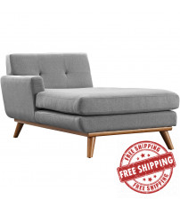 Modway EEI-1793-GRY Engage Left-Arm Chaise in Expectation Gray