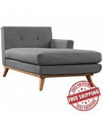 Modway EEI-1794-DOR Engage Right-Arm Chaise in Gray