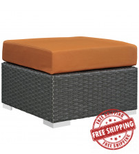 Modway EEI-1855-CHC-TUS Sojourn Outdoor Patio Sunbrella Ottoman in Canvas Tuscan