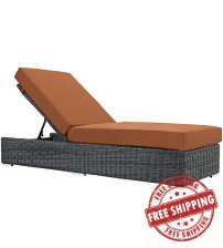 Modway EEI-1876-GRY-TUS Summon Outdoor Patio Sunbrella Chaise Lounge in Canvas Tuscan