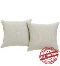 Modway EEI-2001-BEI Convene Two Piece Outdoor Patio Pillow Set in Beige