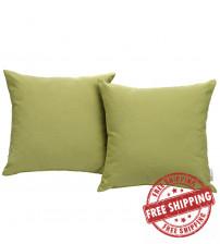 Modway EEI-2001-PER Convene Two Piece Outdoor Patio Pillow Set in Peridot