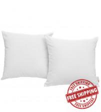 Modway EEI-2001-WHI Convene Two Piece Outdoor Patio Pillow Set in White