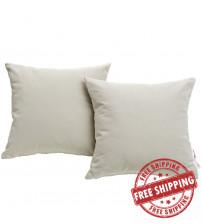 Modway EEI-2002-BEI Summon 2 Piece Outdoor Patio Pillow Set in Beige