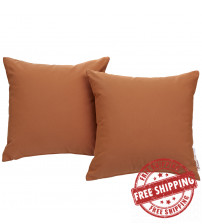 Modway EEI-2002-TUS Summon 2 Piece Outdoor Patio Pillow Set in Tuscan