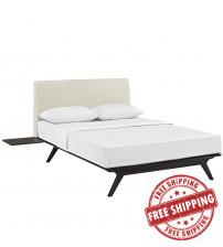 Modway MOD-5257-CAP-BEI-SET Tracy 3 Piece Queen Bedroom Set in Cappuccino Beige