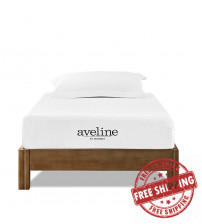 "Modway MOD-5339-WHI Aveline 8"" Twin Mattress in White"