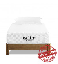 "Modway MOD-5487-WHI Aveline 10"" Twin Mattress in White"