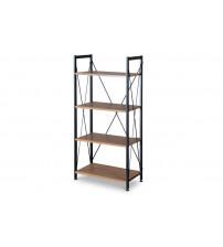 Baxton Studio AA-SJ1(AA-2012-SJ1)-Coffee/Black New Semester Bookshelf