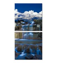 Baxton Studio AF-1054ABC Cobalt Cascades Mounted Photography Print Diptych