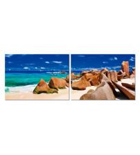 Baxton Studio AF-1086AB Tasmanian Tide Mounted Photography Print Diptych