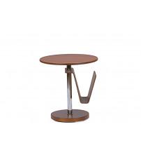 Baxton Studio Aking-23819-MDF Piante Walnut Accent Table with Magazine Holder