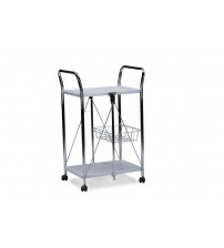 Baxton Studio Aking-58141 Watkins Steel Foldable Serving Trolley Cart