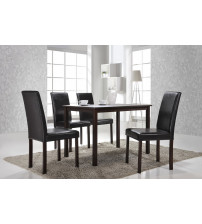 Baxton Studio Andrew Dining Set Andrew 5-Piece Modern Dining Set