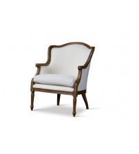 Baxton Studio ASS292Mi ASH2 Charlemagne Traditional French Accent Chair