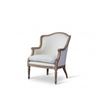 Baxton Studio ASS292Mi CG4 Charlemagne Traditional French Accent Chair-Oak