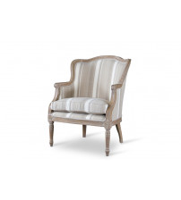 Baxton Studio ASS293Mi CG4 Charlemagne Traditional French Accent Chair-Oak
