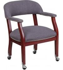 Flash Furniture B-Z100-GY-GG Vinyl Side Chair in Gray