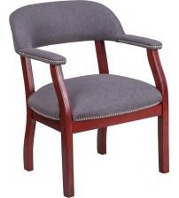 Flash Furniture B-Z105-GY-GG Vinyl Side Chair in Gray