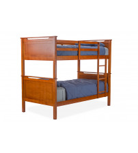Baxton Studio BB3311-Twin Bed-Antique Oak Wexford Contemporary Twin-Size Bunk Bed